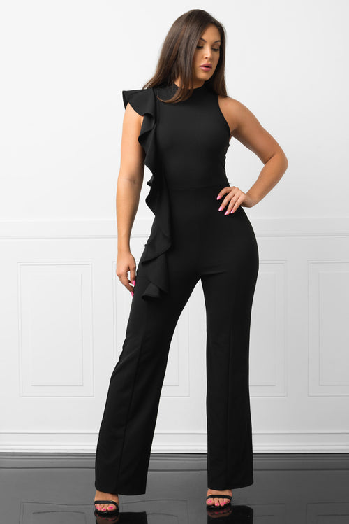 Capri  Black Jumpsuit