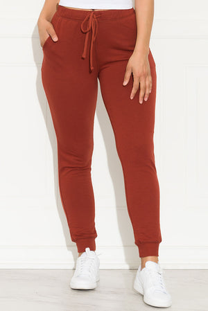 Set You On Track Jogger Terracotta