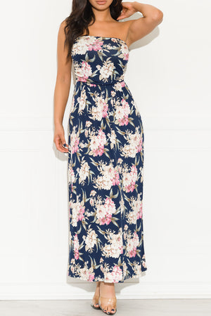 Spring Is Coming Maxi Dress Navy