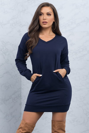 Miranda Sweater Dress  Navy