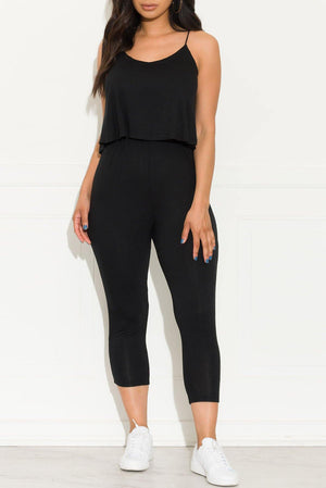 A Little Extra Jumpsuit Black