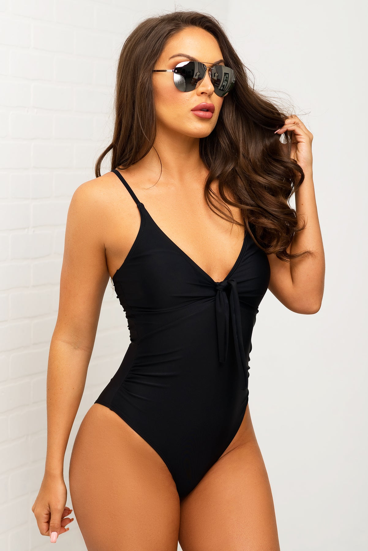 Surf Side Beach  One Piece Swimsuit - Black