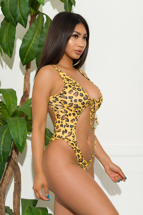 Costa Del Mar One Piece Swimsuit-Animal Print