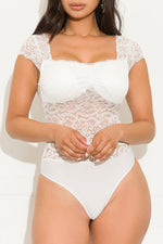 Without Me Bodysuit White