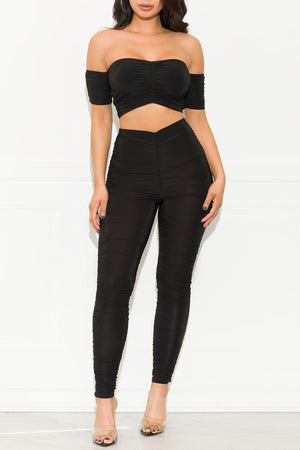 Next To You Two Piece Set Black