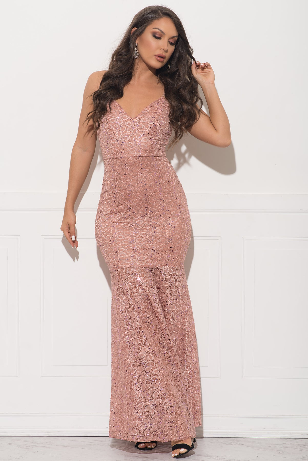 Hillary Dress - Dusty Rose