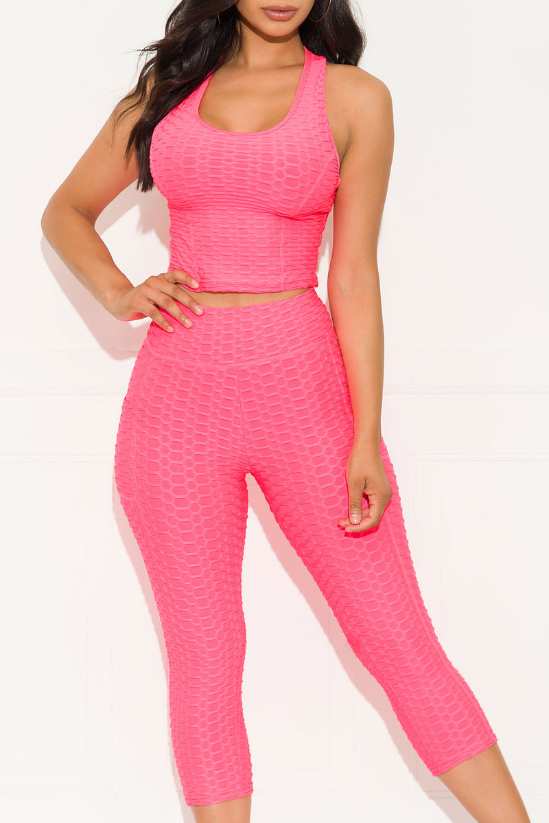 No Excuses Set Neon Pink