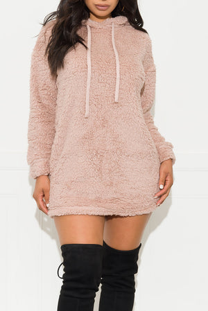 Tell Me Why Sweater Dress Pale Pink