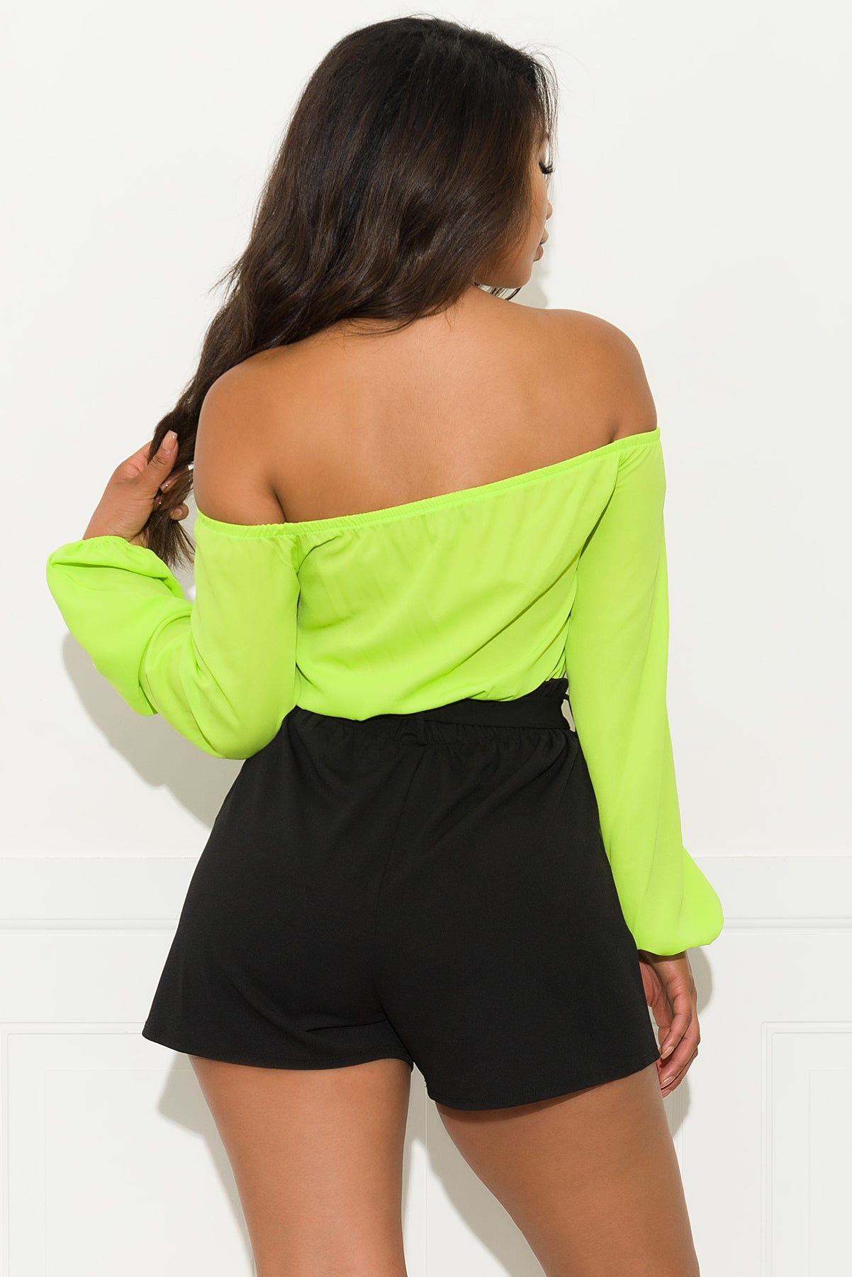 Sunshine State Of Mind Romper - Neon Green