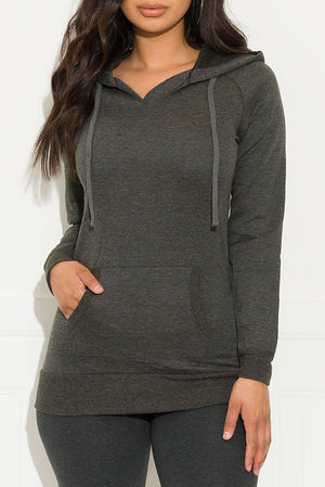 Always Comfy Sweater Charcoal Gray