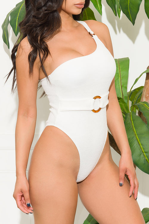 Makena Beach One Piece Swimsuit  Off White
