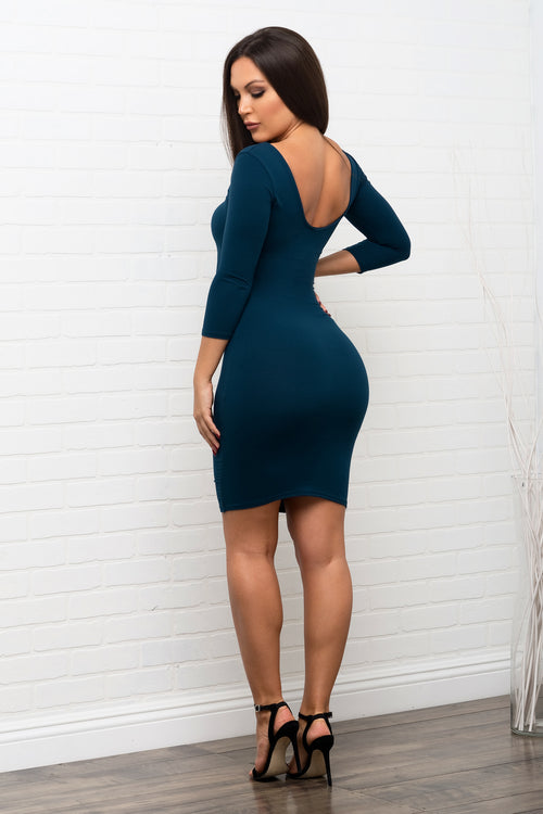 Serena Dress -  Teal