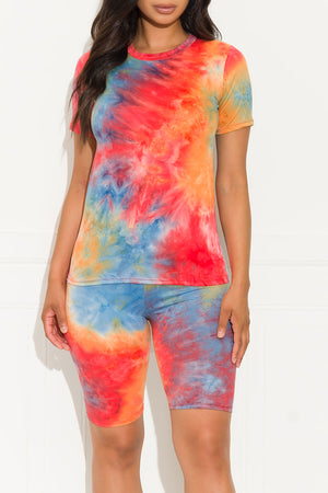 Chill Out Set Round Neck Tie Dye