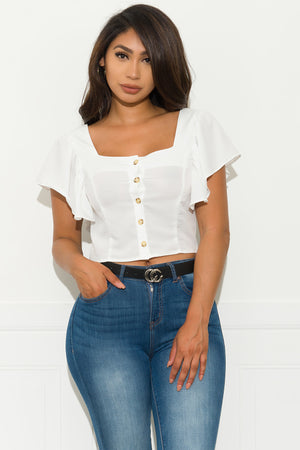 Dream Follower Top  White