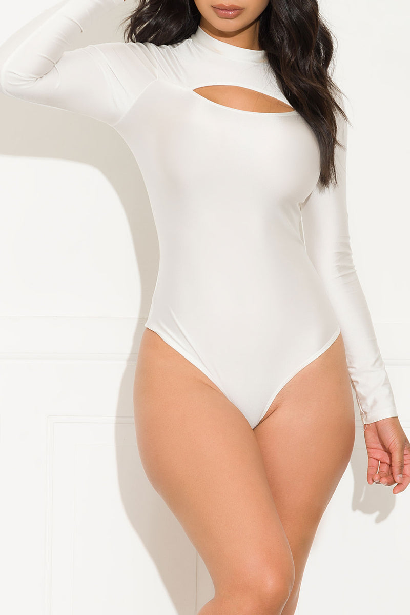 Eyes On You Bodysuit White