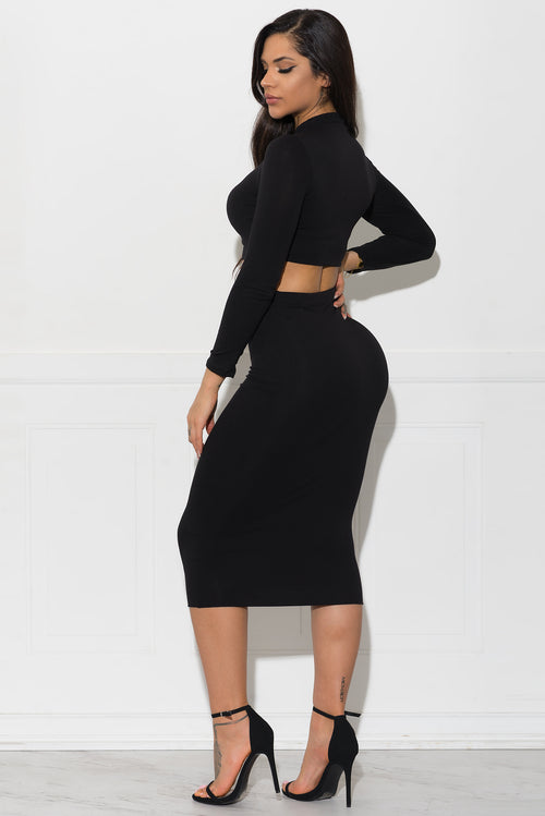 Lynn Two Piece Set - Black