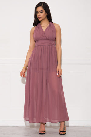 Zella Maxi Dress- Mauve