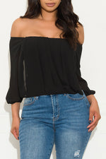 Something Different Blouse Black