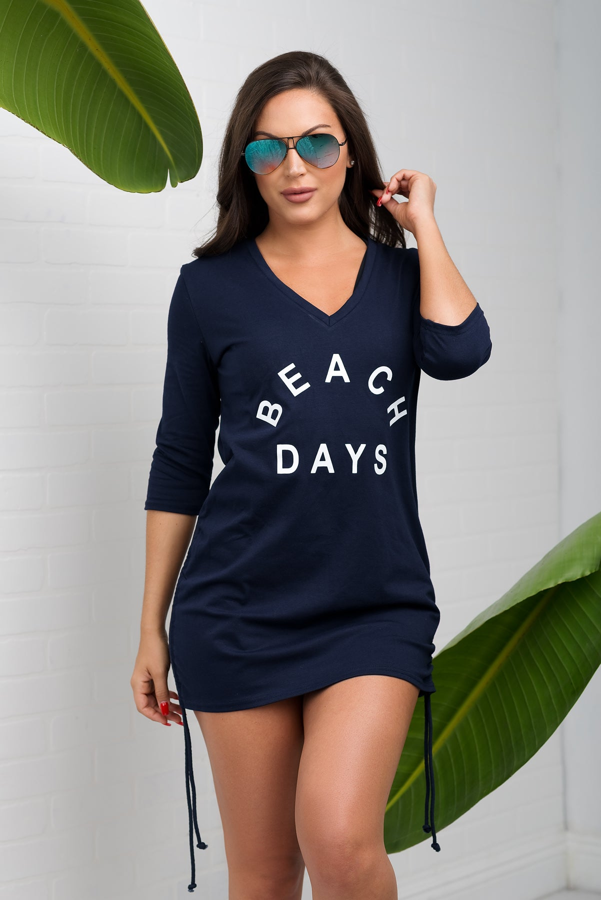 Beach Days Cover Up - Navy