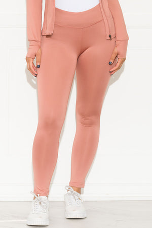 Don't Let Me Down Leggings Dusty Pink