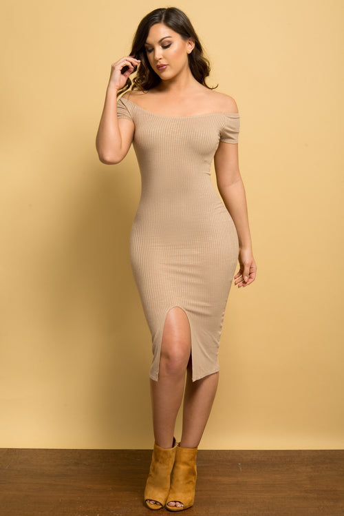 Irene Dress TAUPE - Fashion Effect Store  - 1