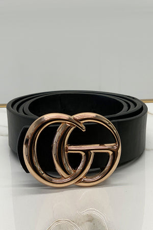 Stuck on You Waist Belt  Black Gold
