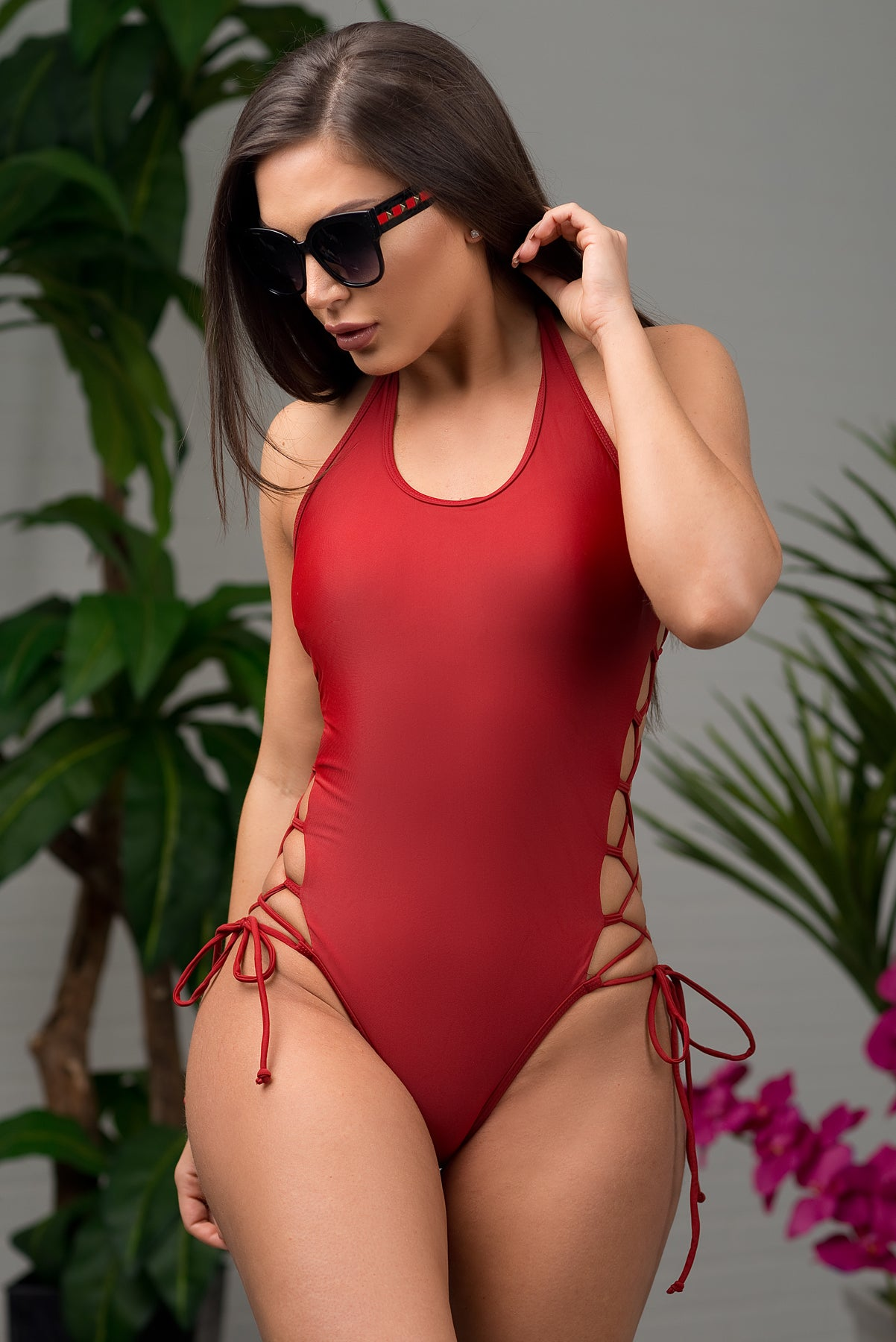 Trunk Bay One Piece Swimsuit - Burgundy