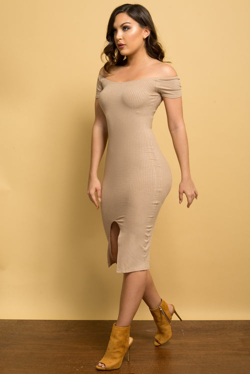 Irene Dress TAUPE - Fashion Effect Store  - 2