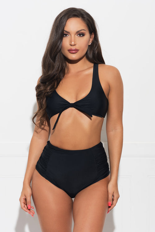 San Clemente Beach Two Piece Swimsuit - Black