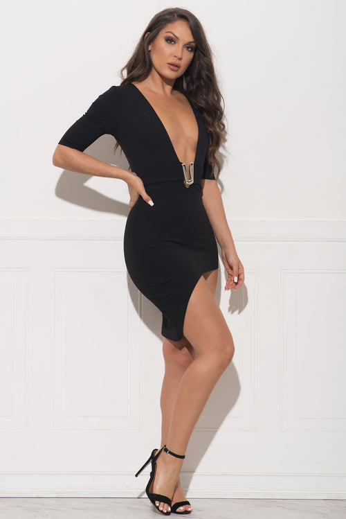 Kendall Mini Dress - Black