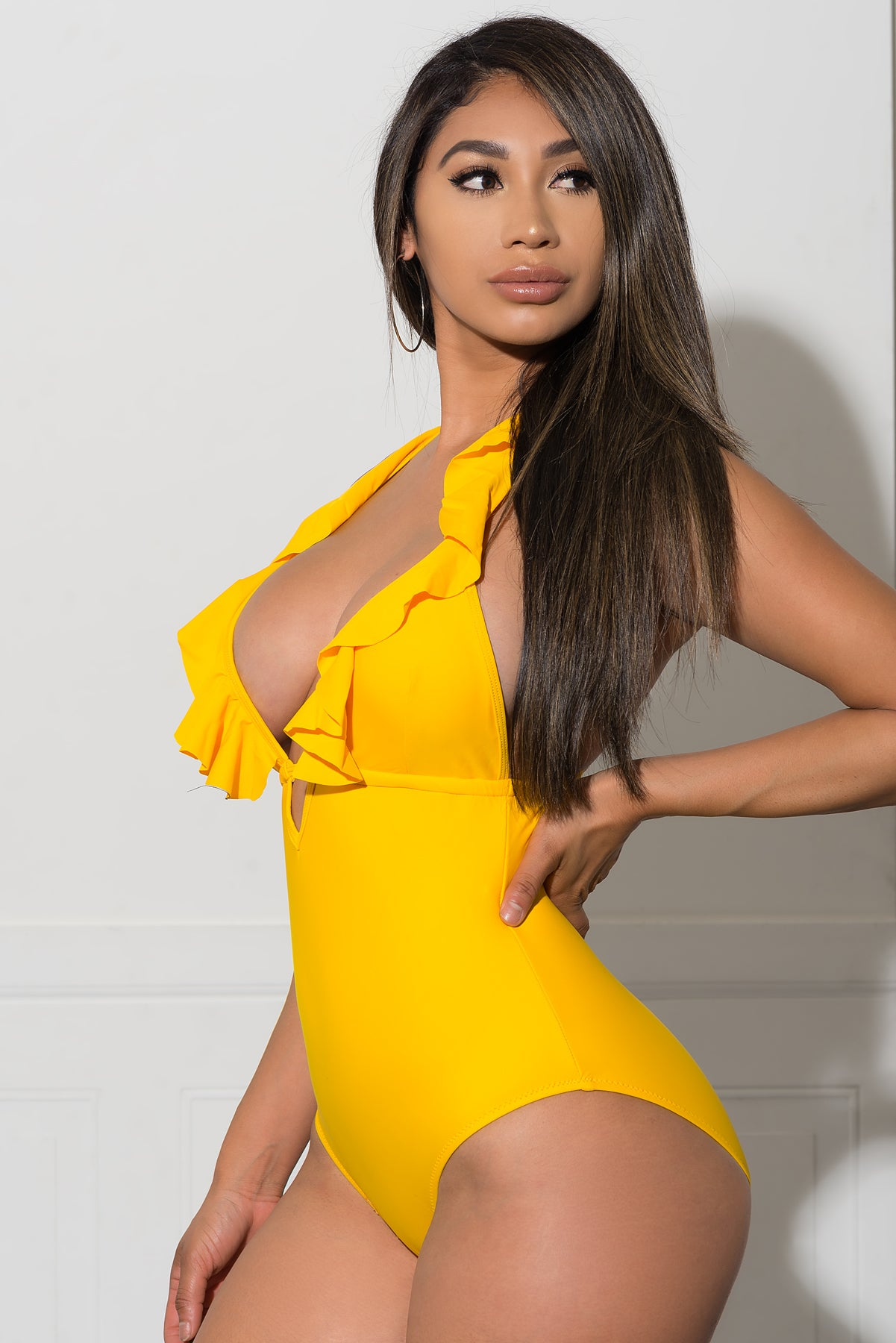 Newport Beach One Piece Swimsuit - Yellow