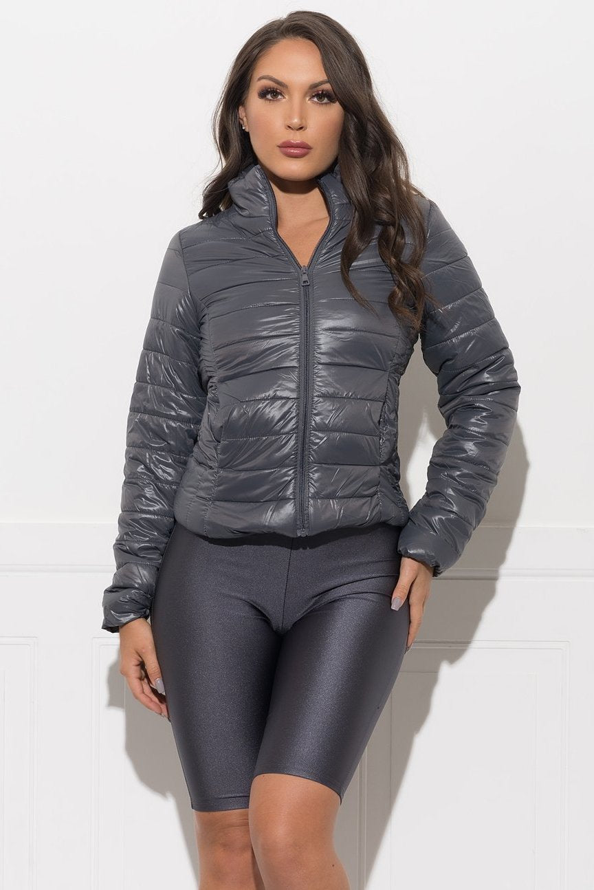 Callie Puffer Jacket - Dark Grey
