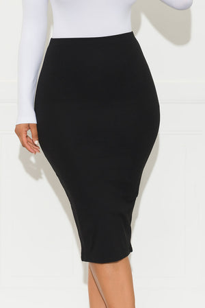 Your Dream Come True Midi Skirt Black