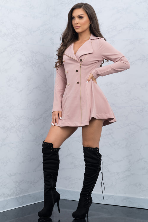 Analia Coat/Dress - Chalk Pink