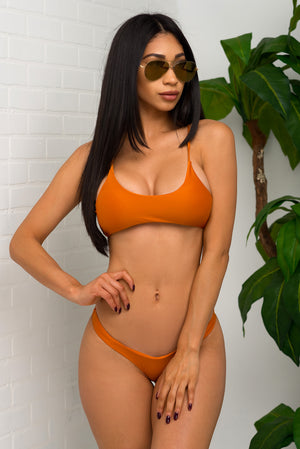 Key West Beach Two Piece Swimsuit Rust