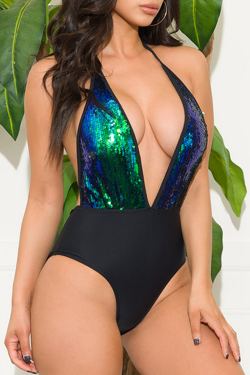 Tahiti Island One Piece Swimsuit