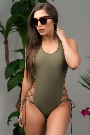Trunk Bay One Piece Swimsuit Olive