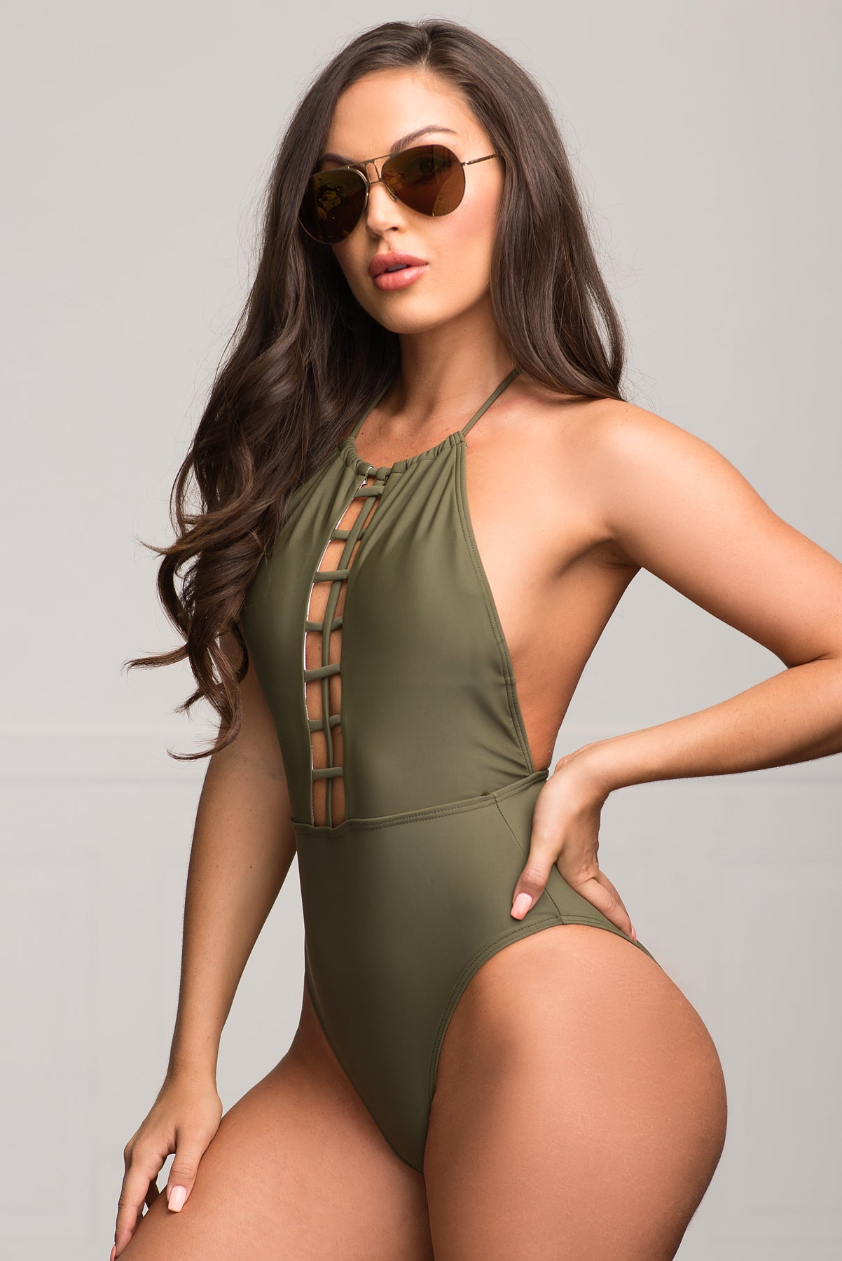 West Bay One Piece Swimsuit- Olive