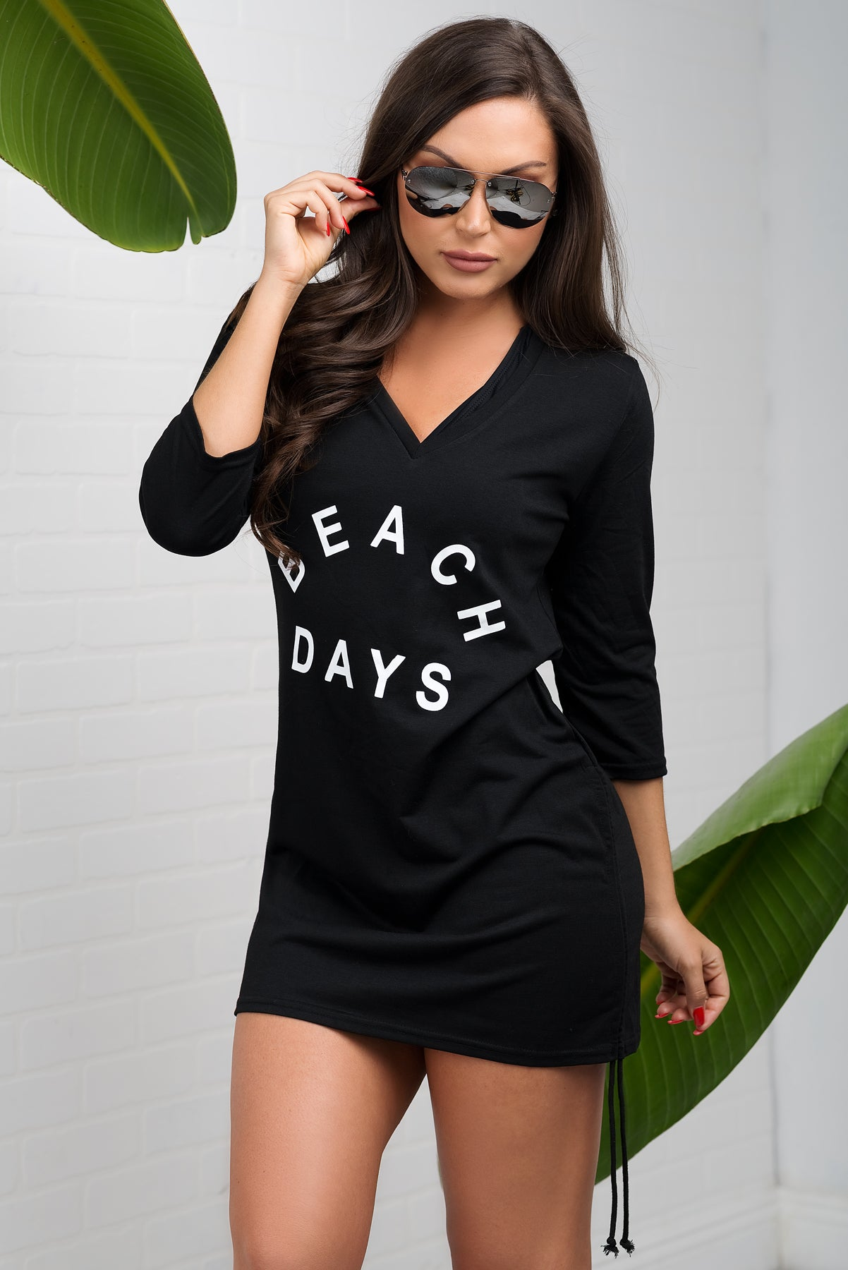 Beach Days Cover Up - Black