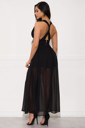 Zella Maxi Dress- Black