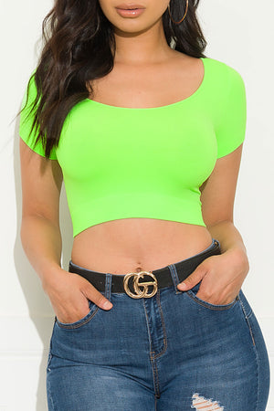 Your Move Crop Top Neon Green