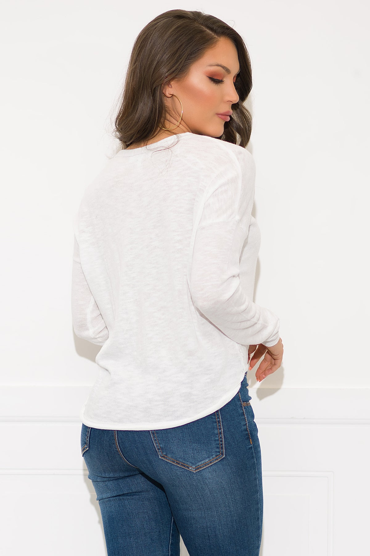 Tracy Sweater - White