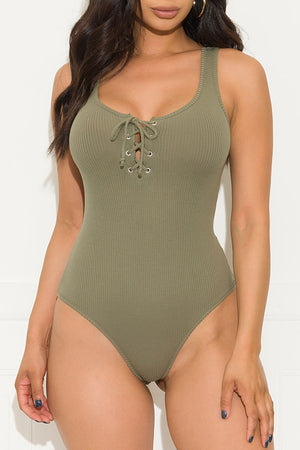 Wherever You Are Bodysuit Olive Green