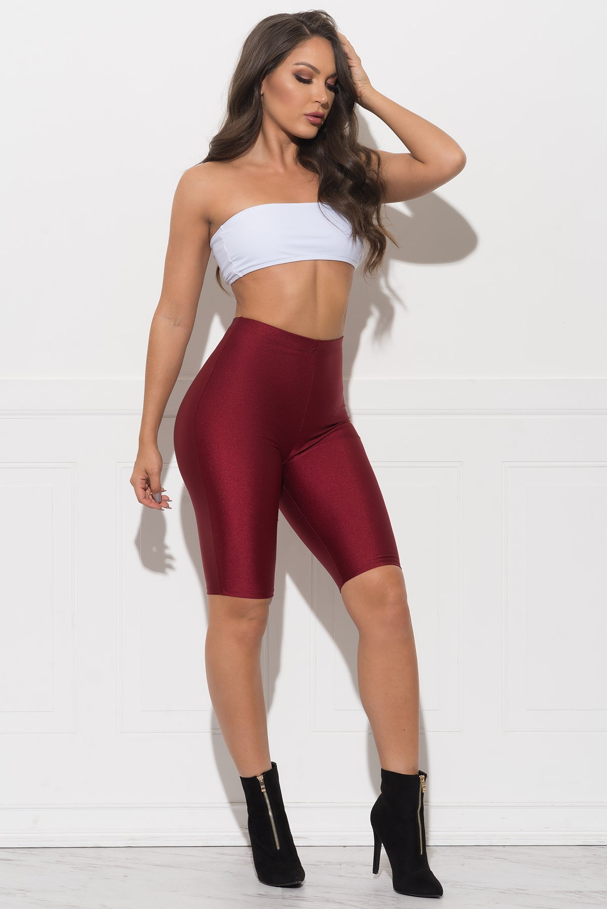 Baylin Shorts - Burgundy