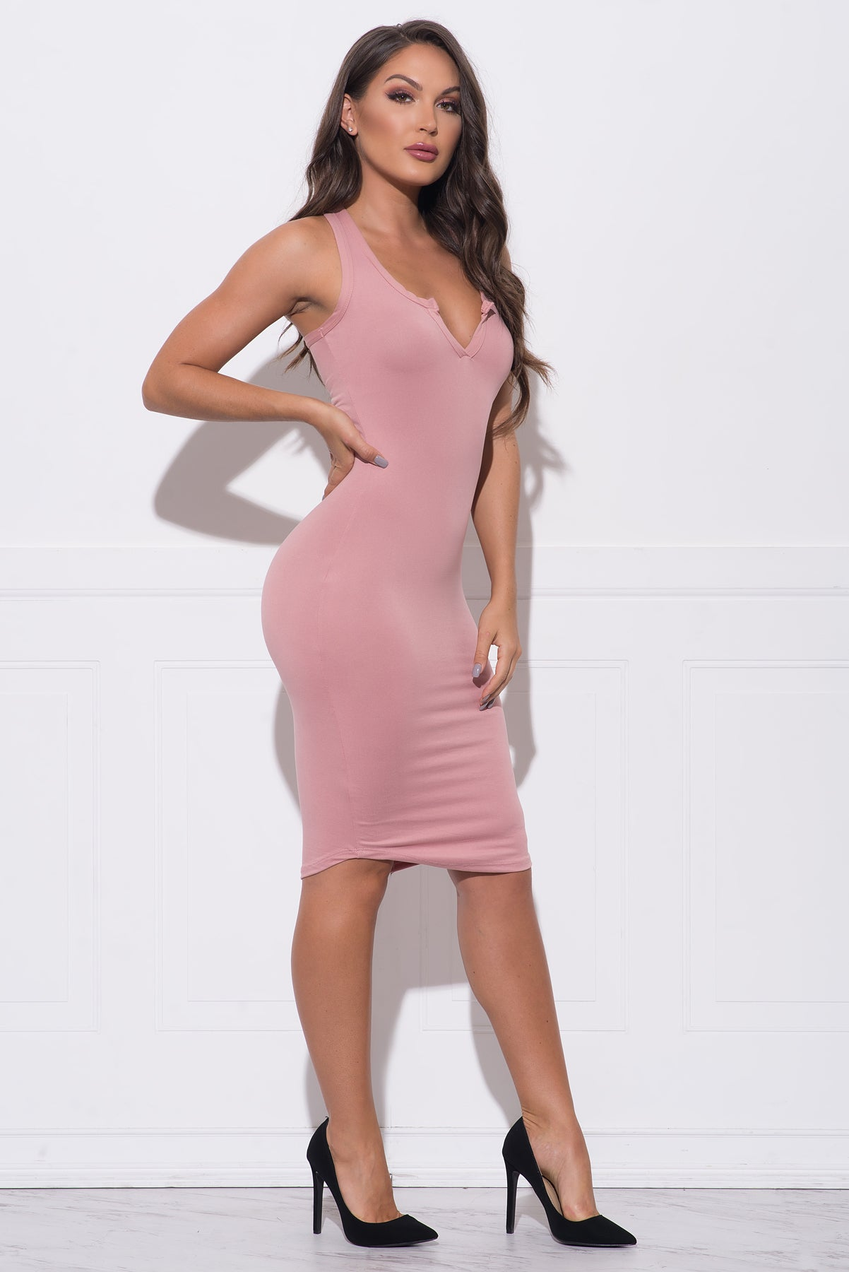 Skylin Dress - Dusty Pink