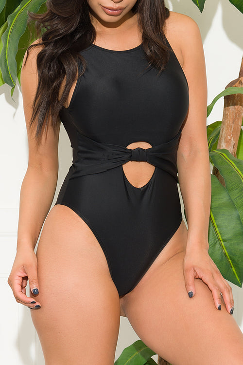 Beacon's Beach One Piece Swimsuit Black