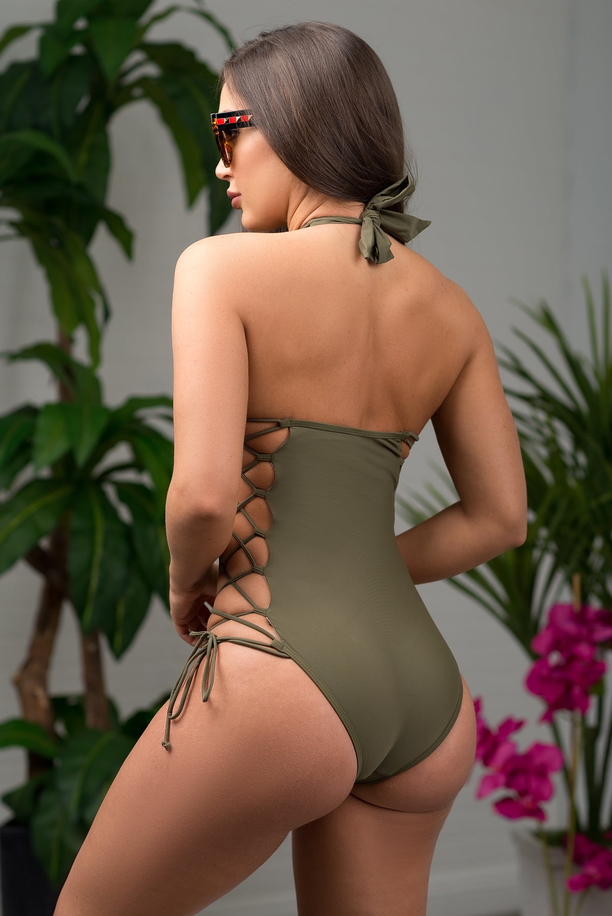 Trunk Bay One Piece Swimsuit - Olive