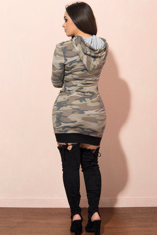 London Camo T Shirt Dress - Fashion Effect Store  - 2