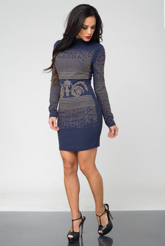 Gia Navy Dress - Fashion Effect Store  - 2