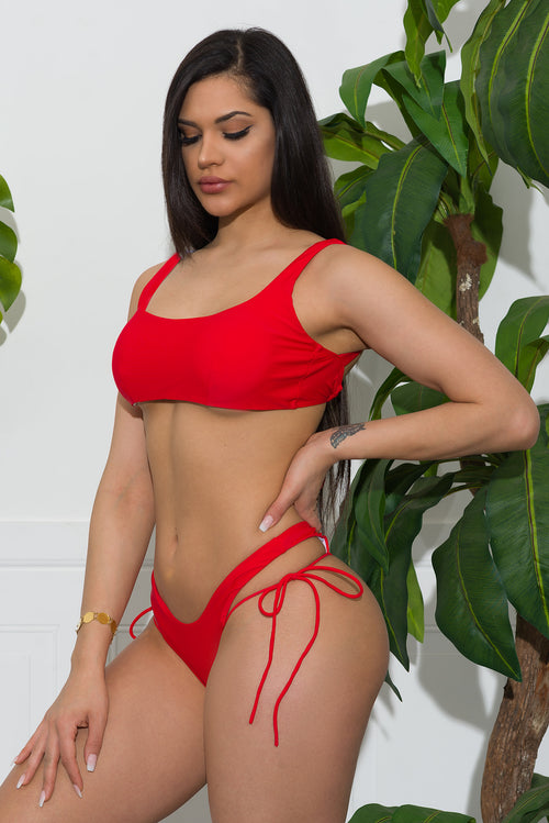 Diani Beach Swimsuit Red